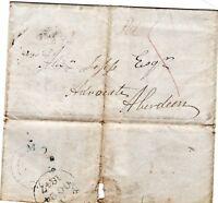 # 1847 UDC MOSSAT LOCAL POSTMARK ON WRAPPER TO ALEXANDER JOPP ABERDEEN