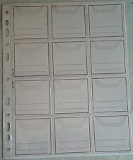 Buste perf.portamonete trasparenti a 12 tasche in conf.da 10 per raccoglitori