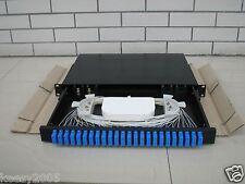 Fiber Patch Panel, Rack Mount 1U Panel,24Core, 2 Splice Tray Capacity(QTY 2  )