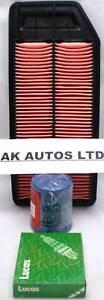 Für Honda Accord 2.4i Vtec 2003> Auf 3PC Service Kit Öl Luft & Zündkerzen