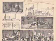 Metallurgie Bessemerhütte Hüttenwesen HOLZSTICH von 1885 Eisenwerk Koksofen