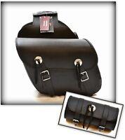 LOT sacoche Cavaliéres + sacoche de fourche - Simple Modèle pour moto custom