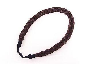 Haarband Zopf Stirnband geflochten Flechtzopf Braun #KII33