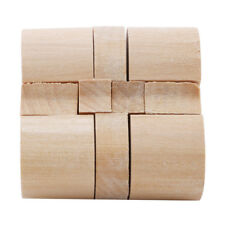 3D Wooden Puzzles Brain Teasers Lock Old Chinese Traditional Toy D