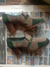 70s BOXED Morland Sloopers Denny Suede Green 4C Shoe Rare Shoes Vintage Retro