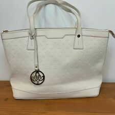 Basto Elegant Cream Logo Handbag Large
