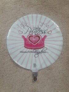 Little princess Mylar Balloons; Birthday Or Baby Shower decor; fun to be one