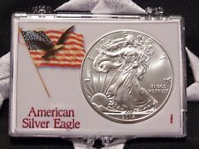 🦅 2014 AMERICAN SILVER EAGLE ONE TROY OZ, .999 FINE, IN PROTECTIVE CASE, UNC 🦅
