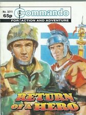 RETURN OF A HERO,COMMANDO FOR ACTION AND ADVENTURE,NO.3211,WAR COMIC,1999