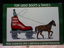 grande plaque anglaise émaillée publicité attelage chaussures