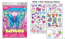 Glitter 4 Girls Temporary Tattoos 60 TRANSFER TATTOOS,SCHOOL FAIR,STALL,PARTY