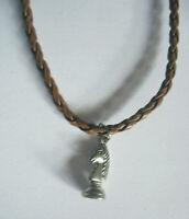 Halskette Schach Springer Pferd Necklace Chess Knight Anhänger x