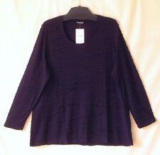 Samoon Shirt Gerry Weber Longstyle 100% Viskose lila langarm Neu Damen Gr.50