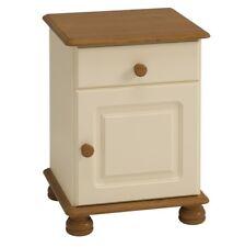 Steens Richmond 1 Door 1 Drawer Bedside Cabinet (Cream + Pine)