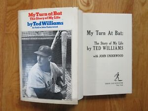 MY TURN AT BAT Story of My Life by TED WILLIAMS 1969 2nd Printing Book RED SOX