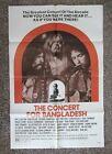 "Beatles RARE 1972 GEORGE HARRISON "" CONCERT FOR BANGLA DESH "" MOVIE POSTER !"