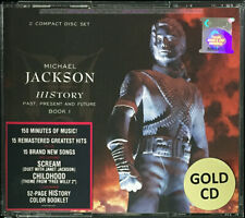 MICHAEL JACKSON History Past Present And Future MALAYSIA GOLD DISC 2CD FREE SHIP