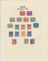 Netherlands 1934-39 Stamps on album page Ref 15145