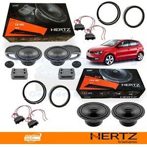 Hertz CK165 + CPX165 Casse Altoparlanti Ant + Post VW POLO 6R dal 2009 al 2014