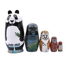 Panda Bear Asian Animals Design Russian Babushka Stacking Toy Nesting Doll C