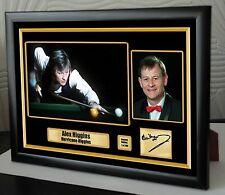 "Alex Higgins World Champion Snooker Framed Canvas Print Signed.""Great Gift"""