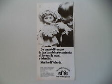 advertising Pubblicità 1979 BAMBOLA EFFE VALERIA
