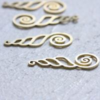 2 Pieces Solid Sterling Silver Earring Hook 19.8mm Earring Hoop SS004-4252C One Pair Earring Loop