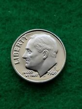 1986-S-  Roosevelt Dime cameo  Uncirculated -proof **free ship**