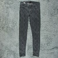 Mother Mid Rise Looker A Kingdom of Dreams Skinny Jeans Snake Womens Sz 26