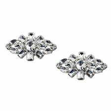 """Jewelled Shoe Clips, Shoe Jewels, Bridal Prom Shoe Accessories (1 Pair) """"Rosie"""""""
