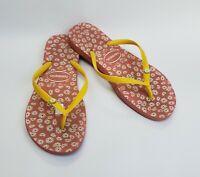 Havaianas Shoes Daisy Floral Flip Flops Sandals Brazil Womens Size 7-8 / 37-38