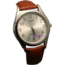 Casio Men's Brown Leather Watch MTP-1093E-7B