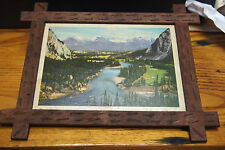 """Vintage Bow Valley Print with wood frame 7 ½"""" x 6 ¼"""" by Harmon"""