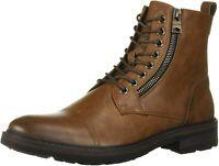 Kenneth Cole REACTION Men's Rex Combat Boot, Brown, Size 8.5 2Bp7