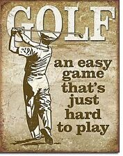 Golf An Easy Game That's Just Hard To Play Vintage Retro Tin Sign Metal Poster