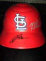 Delvin Perez & Nolan Gorman Cardinals Autograph Signed Full Size  Helmet MLB PSA