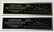 Michael Schumacher Formula one nameplate for signed photo or display case