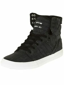 Supra Skytop Mens Trainer Black Red Navy Brown Shoes Skater Various Colours