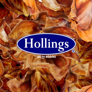 Pigs Ears Natural Dried Pork Quality English Dog Treat Chews Dogs Treat Hollings