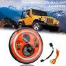 "Orange 7"" Angle Eye DRL Halo LED Headlight Hi/Low For Jeep Wrangler JK LJ TJ CJ"