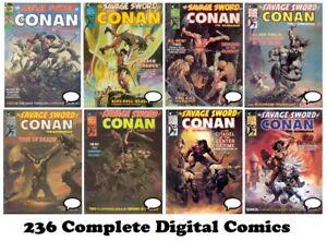 SAVAGE SWORD OF CONAN (1974) COMPLETE Digital MARVEL Comics (#1-235 + annual)