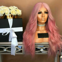 Hair Wigs for Ladies Women Synthetic Long & Curly Pink Wig Party Cosplay #Trend