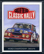 Clásicos coches de rally de la tarjeta de coleccionistas - 1980s Set-Audi Quattro Lancia Ford