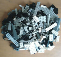 Genuine Lego 500g Mixed Star Wars City Bricks Plates Black Grey White Joblot
