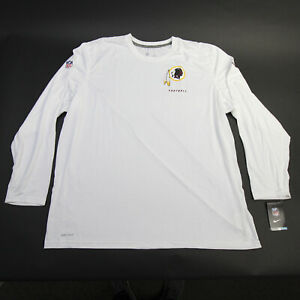 Washington Redskins Nike Dri-Fit Long Sleeve Shirt Men's White New with Tags