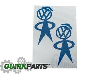 Volkswagen VW HEAD Classic Vinyl Blue Graphic DECAL GENUINE OEM NEW GTI Beetle