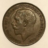 1921 Great Britain Penny, George V, KM# 810, AU  #2673