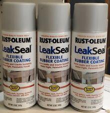 3 New Rust-Oleum LeakSeal Leak Seal Flexible Rubber Coating ALUMINUM 12 Oz Each