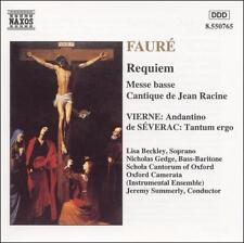 Fauré: Requiem; Messe basse; Cantique de Jean Racine, New Music