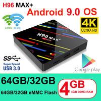 H96 Max+ Android 9.0 TV Box RK3328 Quad Core 4GB RAM + 64GB ROM 4K Media Player